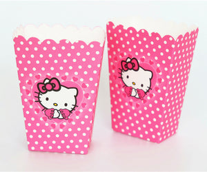 Boîte pop corn Hello Kitty en carton