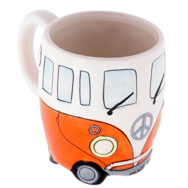 Mug original van camping orange