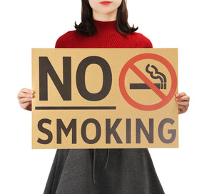 "Affiche Vintage ""No Smoking"" - Papier Kraft de Qualité"