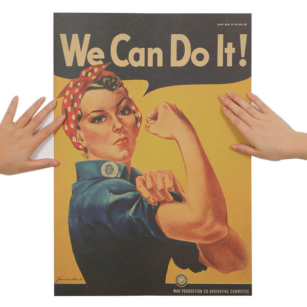 "Poster Vintage Américain ""We Can Do It"" pour décoration Cuisine au Top"