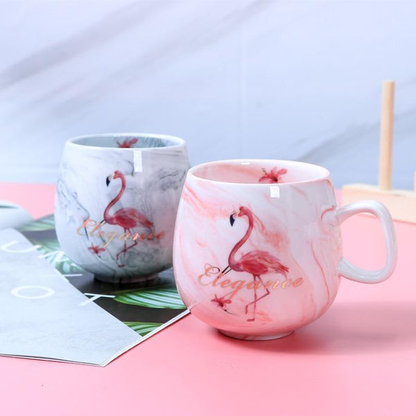 Tasses de café flamant rose - design moderne