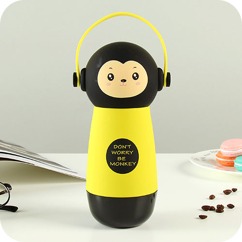 Thermos kawaii pour Enfant : Illustration d'un singe