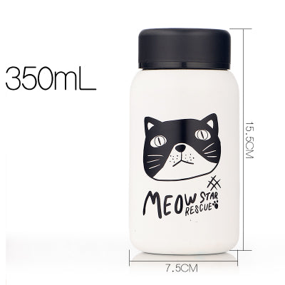Bouteille isotherme femme - chat noir