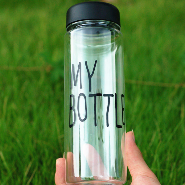 "Bouteille d'Eau Transparente ""My Bottle"" 500ml - Incassable"