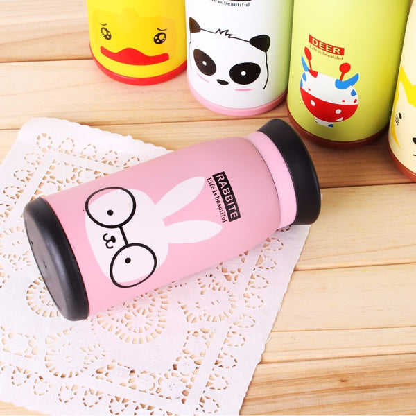 Mug isotherme thermos rose pour enfant