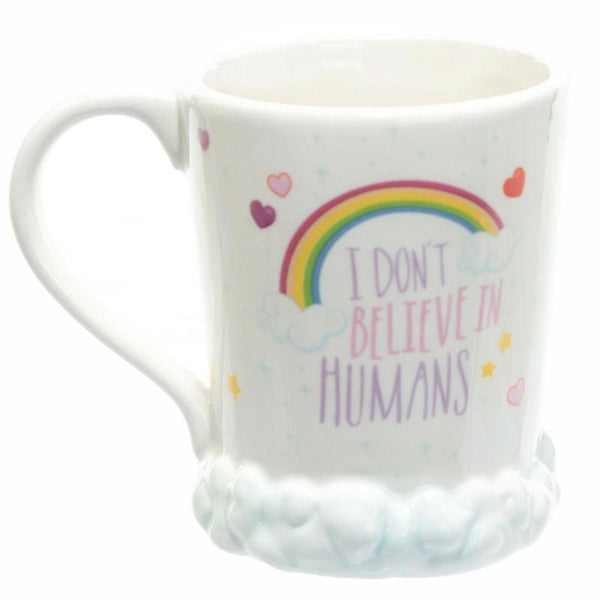 "Slogan ""I don't believe in humans"" (Licorne)"