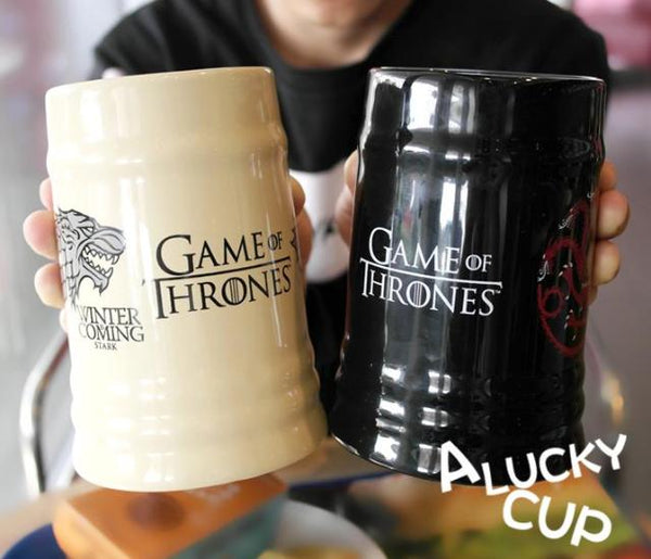 Mug blanc écru ou mug noir Game of Thrones