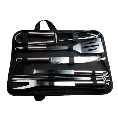 Set barbecue 9 ustensiles inox