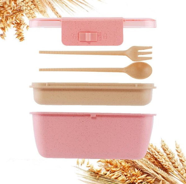 Lunch box paille de blé 800ml 2 couches