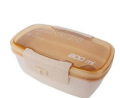 Lunch box paille de blé 800ml couleur beige