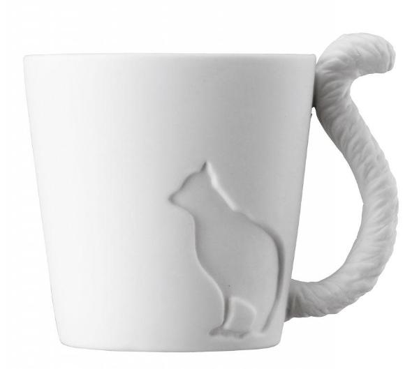 Tasse mugtail blanche Chat