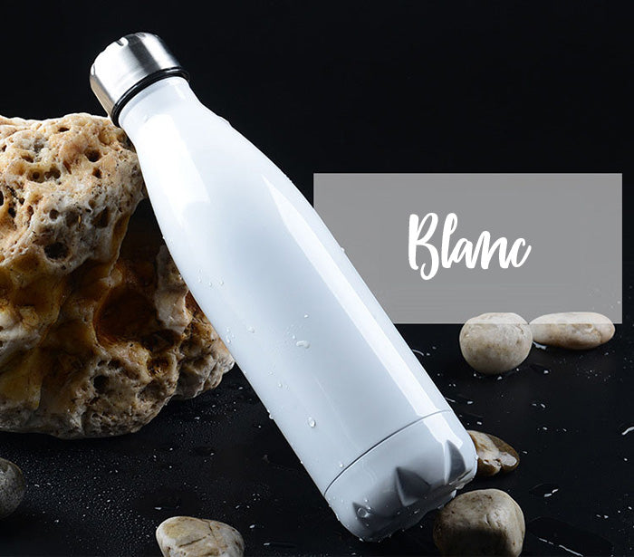 Bouteille thermos couleur blanc