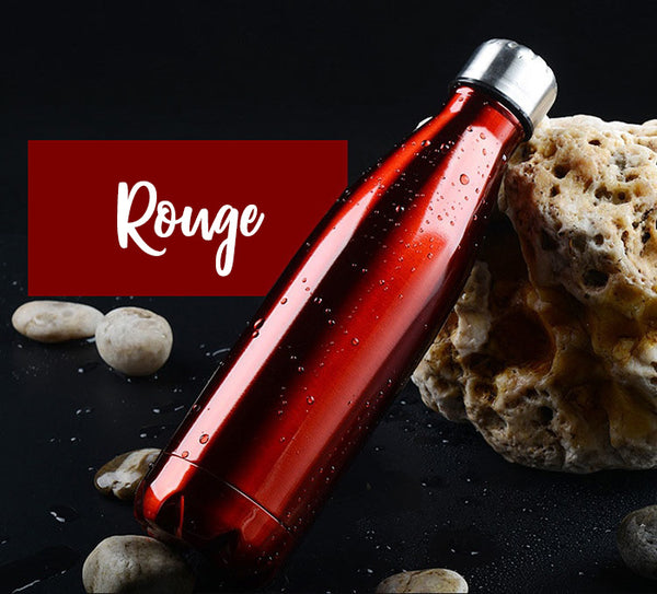 Bouteille thermos couleur rouge