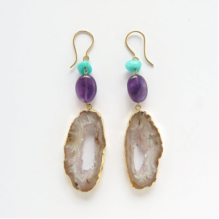 Sunset Party Amethyst Earrings