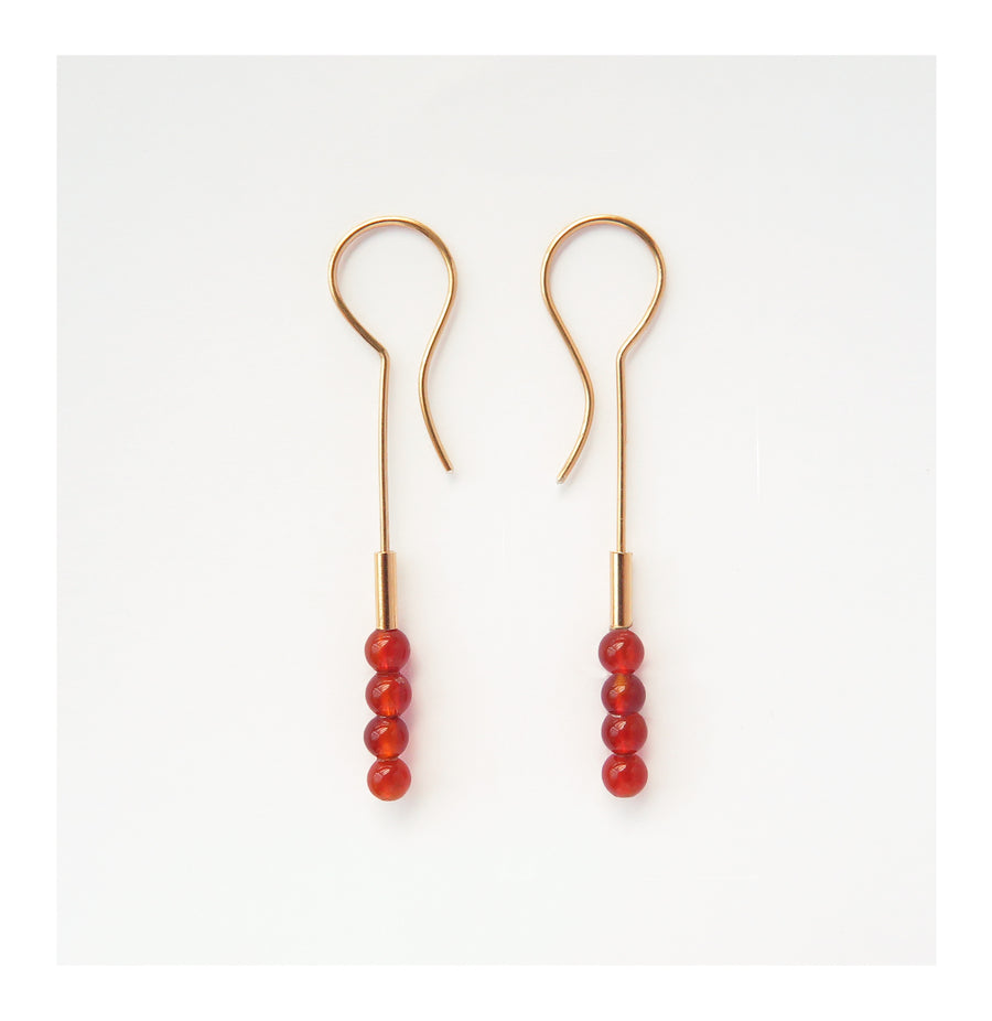 Carnelian Slim Earrings