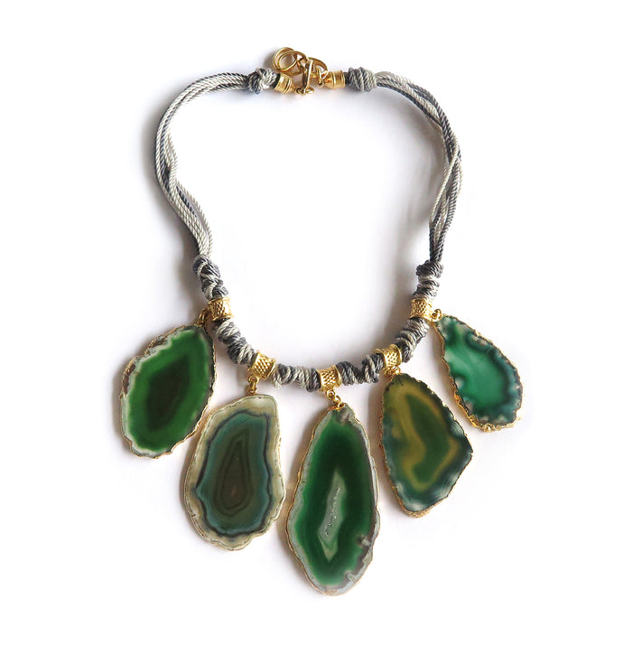 Tribu necklace green