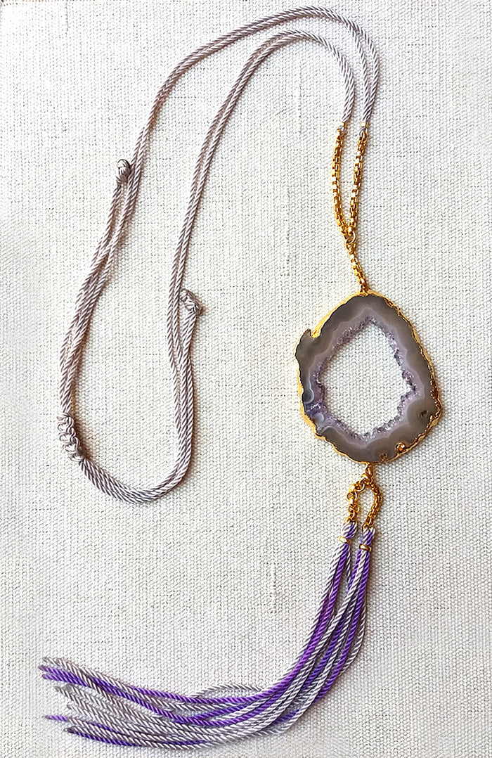 Amethyst Boho Necklace