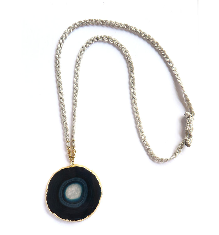 Blue Eye Agata Necklace