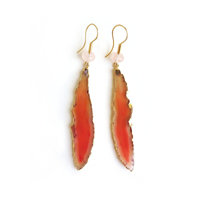Subtle Fire agate earrings