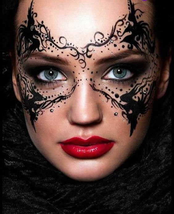 How to create a Masquerade Mask with Make-up