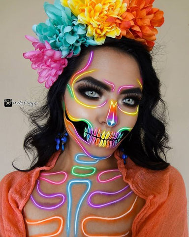 day of the dead makeup model