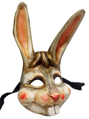 Luxury Handmade Rabbit Bunny Full Face Animal Venetian Masquerade Mask