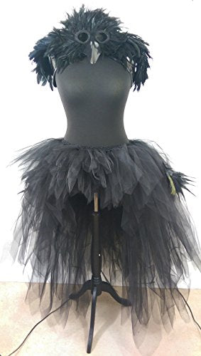 Black Low High Layered Tutu Peacock Feathers Turkey Feathers Wedding Prom Photo Shoot Festival- Available in Teenage, Adult + Plus Sizes