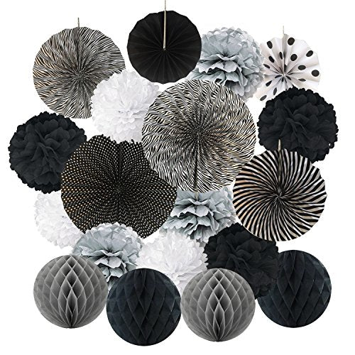 Tissue Paper Pom Poms Flower Fan -event Styling for Masquerade Balls