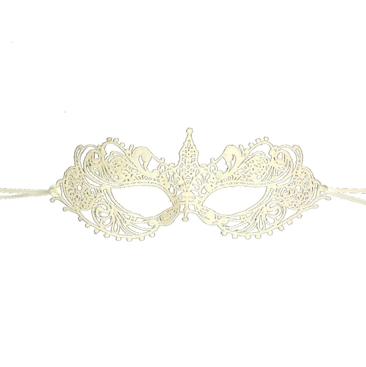 Samantha Peach Masquerade Mask - The Authentic 50 Shades Darker Ana Lace Anastasia Goddess Mask (Ivory)