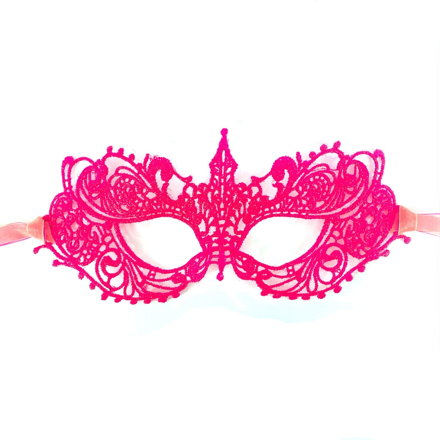 Samantha Peach Masquerade Mask - The Authentic 50 Shades Darker Ana Lace Anastasia Goddess Mask (Barbie Pink)