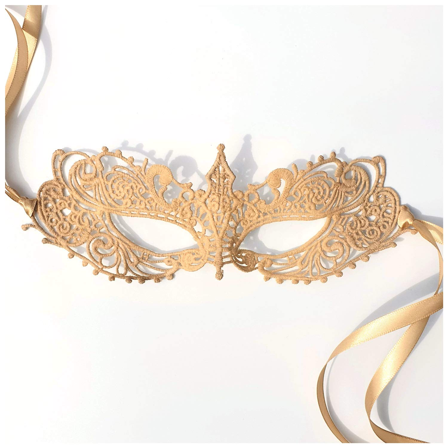 Samantha Peach Masquerade Mask - The Authentic 50 Shades Darker Ana Lace Anastasia Goddess Mask (Nude)