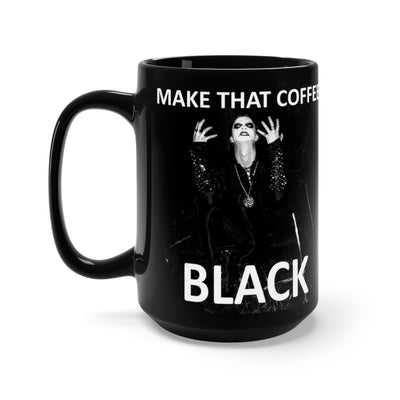 Black Metal Mug 15oz