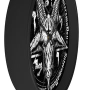 Baphomet Elegant Black Wall Clock