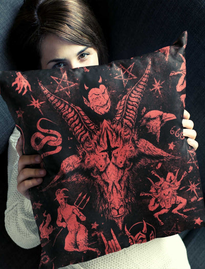 Red Baphomet Pillow