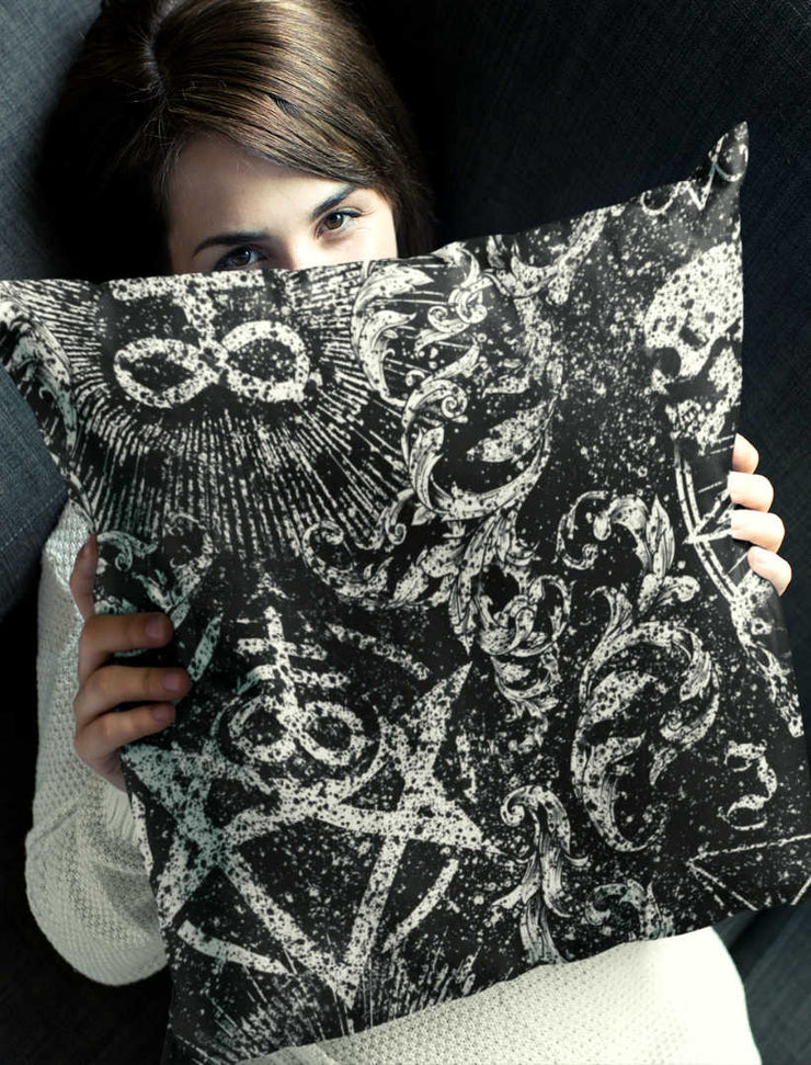 Distressed Occult Pillow