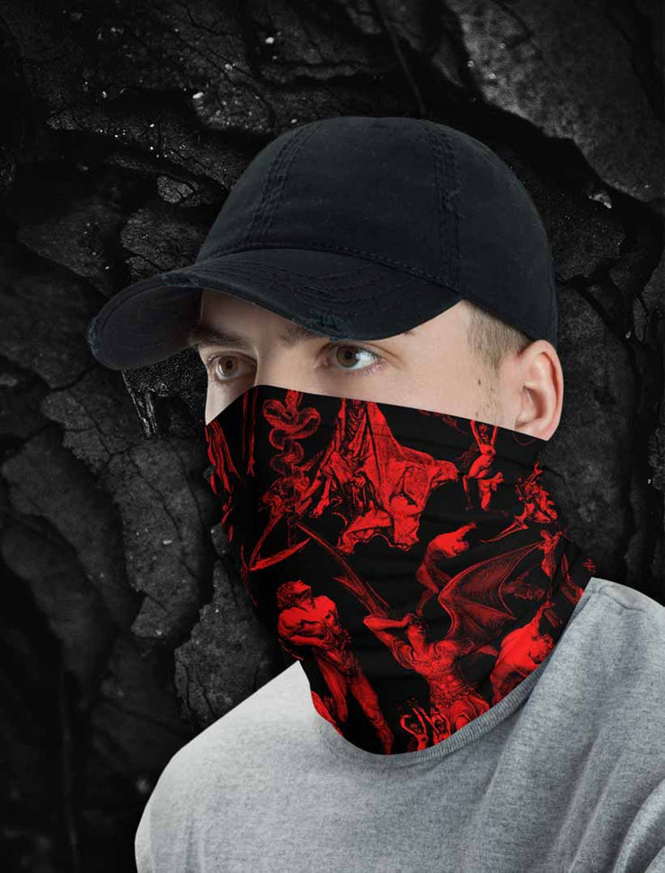 The Gates Of Hell Satanic Neck Gaiter