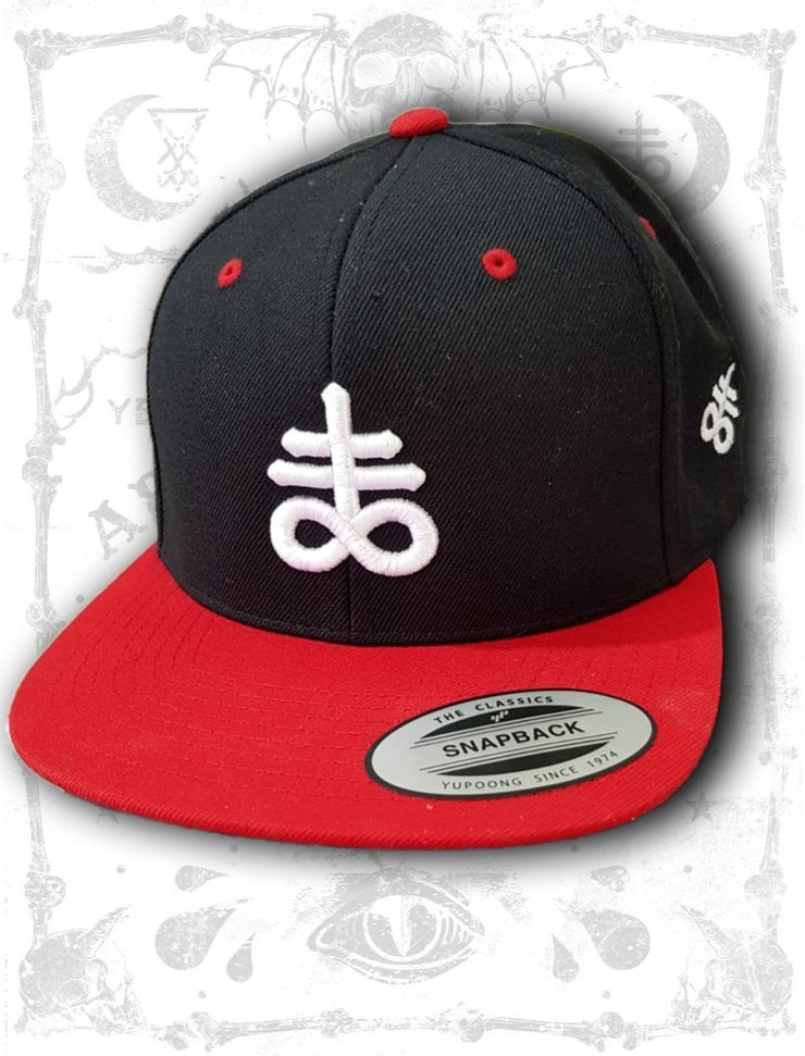 Satanic Leviathan Cross Snapback Hat (4 Colors) - Interemodeus Stay cold StayCold BlackCraft Black Craft Killstar Belial Satanic Satanism Occult Goth Gothic Tattoo Shirts Black Metal Anton LaVey Satan Blasphemy Mayhem