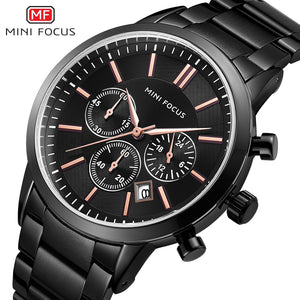 CLEARANCE SALE ORIGINAL MINIFOCUS BRAND GENTS QUARTZ CHRONOGRAPH WATCH
