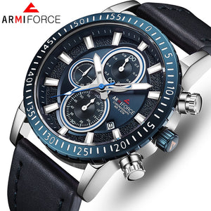 ORIGINAL ARMIFORCE GENTS LATEST CHRONOGRAPH WATCH AF-8003M-BL