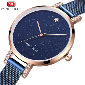 Original MINIFOCUS Fashion Quartz Women's Watch (Blue)