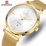 Original NAVIFORCE MENS NF-3009-GG Stainless Steel Mens Best Selling Quartz Watch