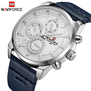 Original NAVIFORCE MENS 9148MBLW Stainless Steel Mens Best Selling ANALOG DAY DATE Watch