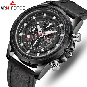 STOCK CLEARANCE SALE ORIGINAL ARMIFORCE GENTS LATEST CHRONOGRAPH WATCH AF-8004M-B
