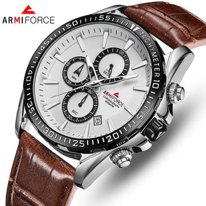 ORIGINAL ARMIFORCE GENTS LATEST CHRONOGRAPH WATCH AF-8001M-BRW
