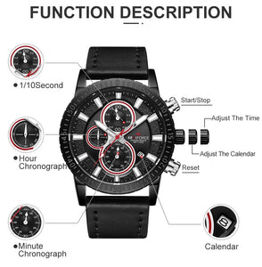 ORIGINAL ARMIFORCE GENTS LATEST CHRONOGRAPH WATCH AF-8003M-BW