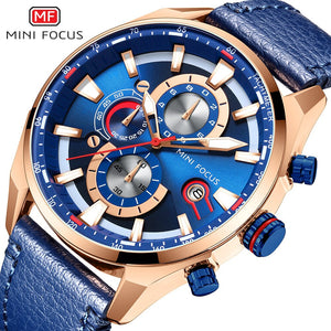 ORIGINAL MINIFOCUS BRAND GENTS QUARTZ CHRONOGRAPH WATCH