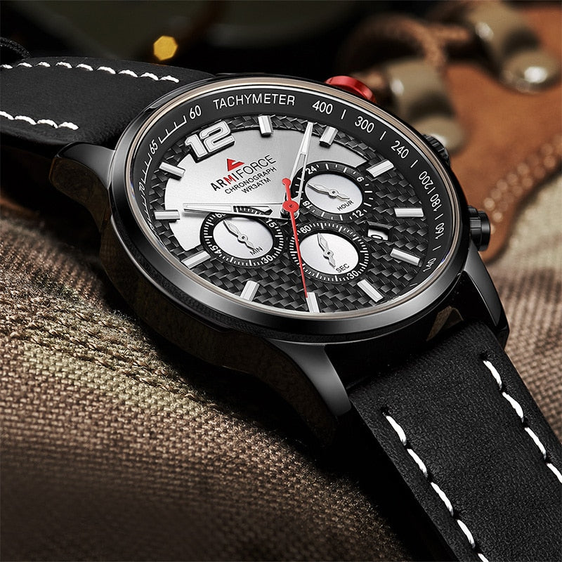 ORIGINAL ARMIFORCE GENTS LATEST CHRONOGRAPH WATCH AF-8002M
