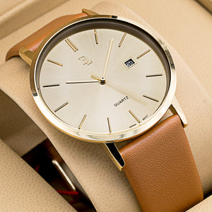 Original Delawrance ULTRA SLIM Mens Best Selling Classic Quartz Watch DL-239