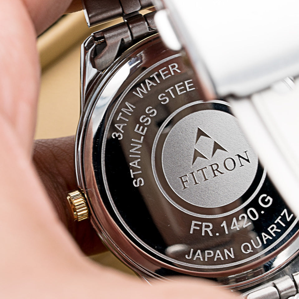 Original FITRON 221 Slim Ultra High Quality Day Date Classic Watch with Japanese  Quartz Movement