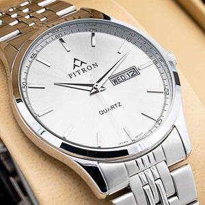 FITRON Slim FT-203 Ultra High Quality Day Date Classic Watch with Japanese  Quartz Movement